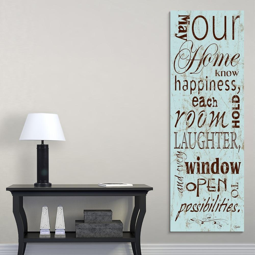 """Home Happiness"" by Carole Stevens Canvas Wall Art"