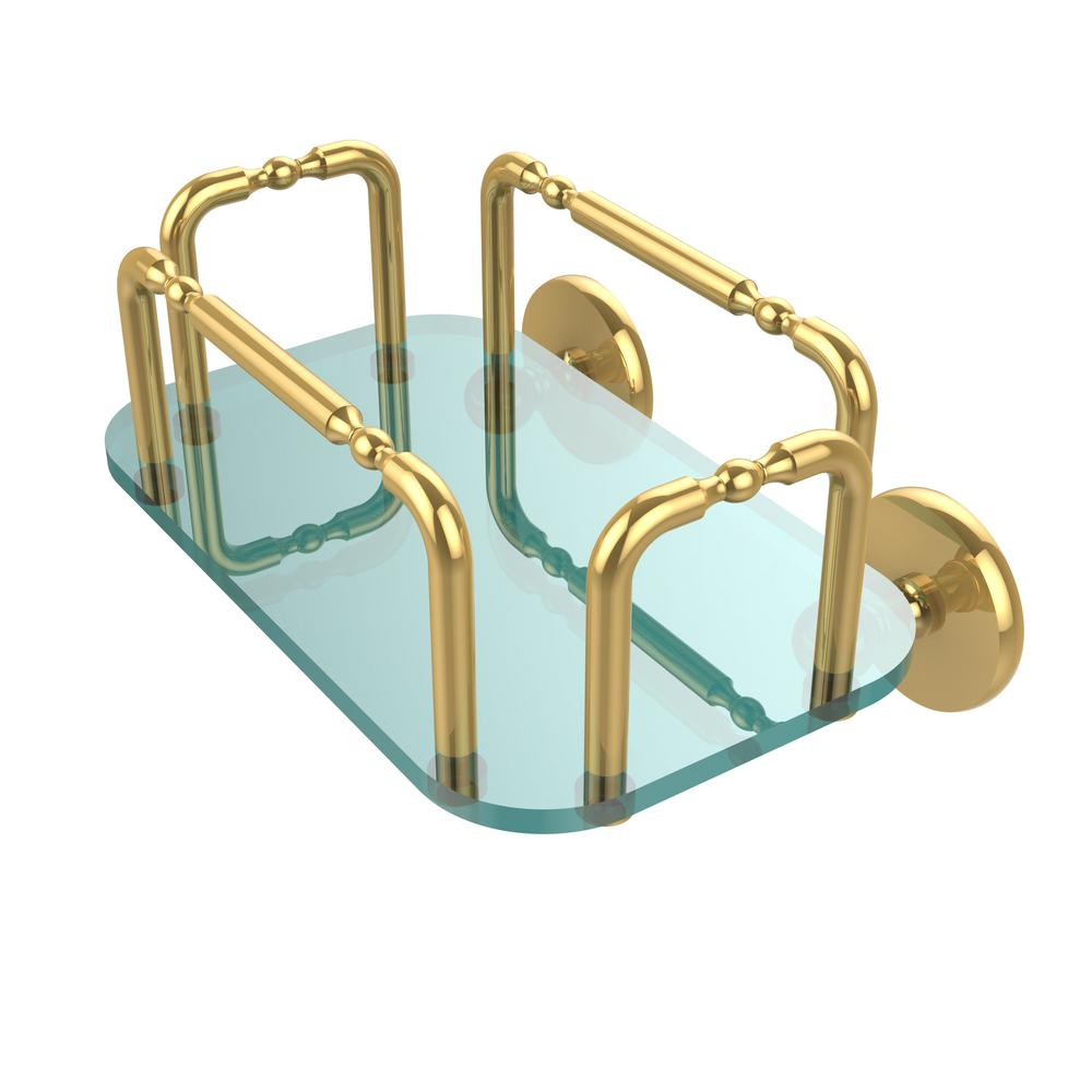 Skyline Wall Mounted Guest Towel Holder in Polished Brass