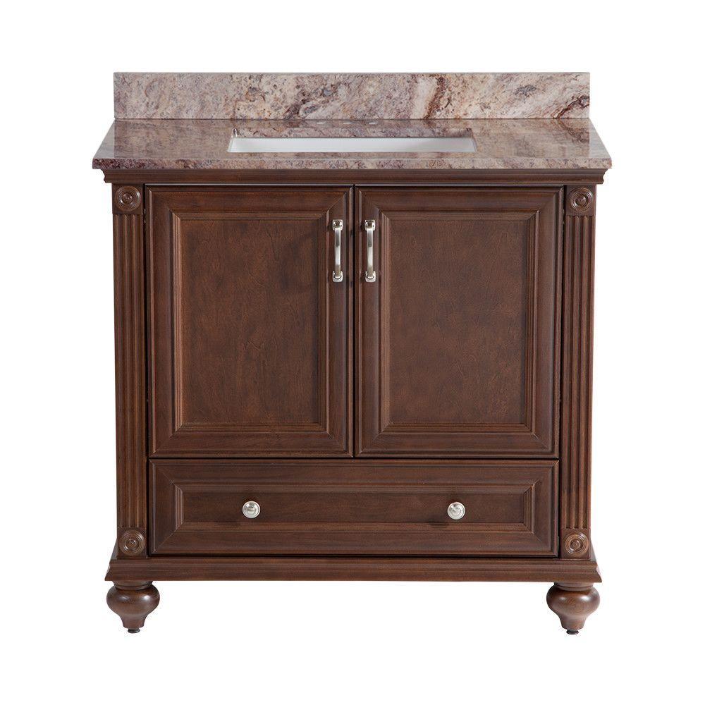 Home Decorators Collection Annakin 36 In Vanity In Cognac