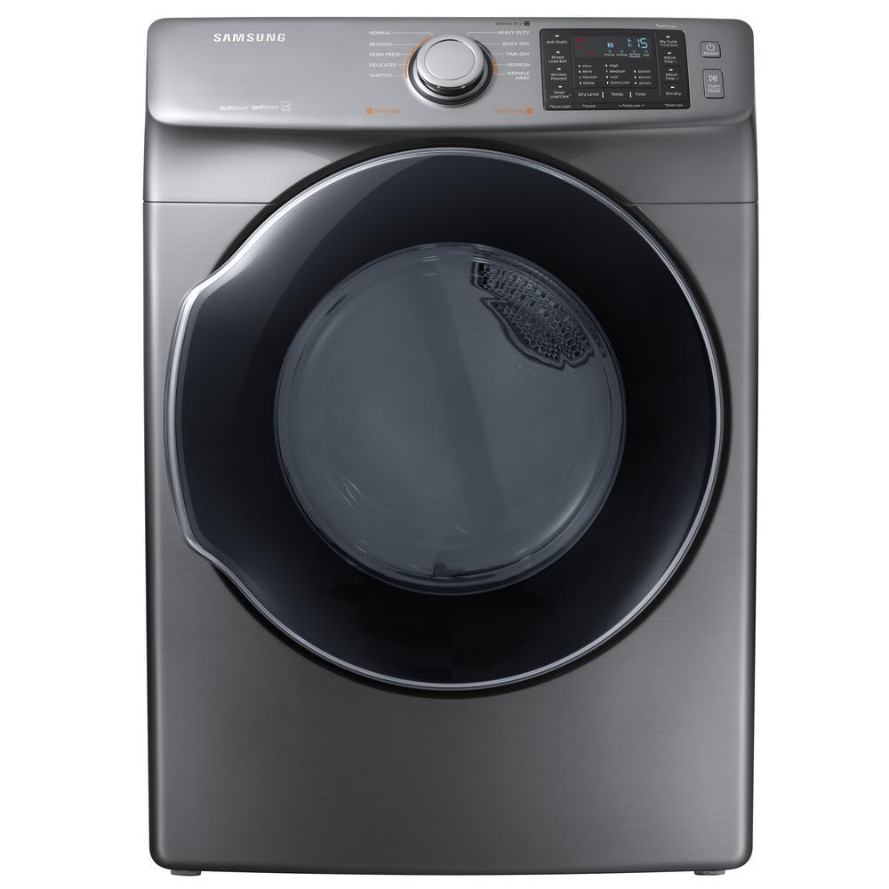 Samsunf Platinum: Samsung 7.5 Cu. Ft. Electric Dryer With Steam In Platinum