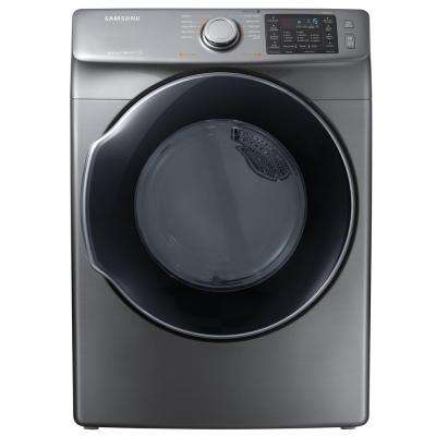 7.5 cu. ft. Electric Dryer with Steam in Platinum, ENERGY STAR