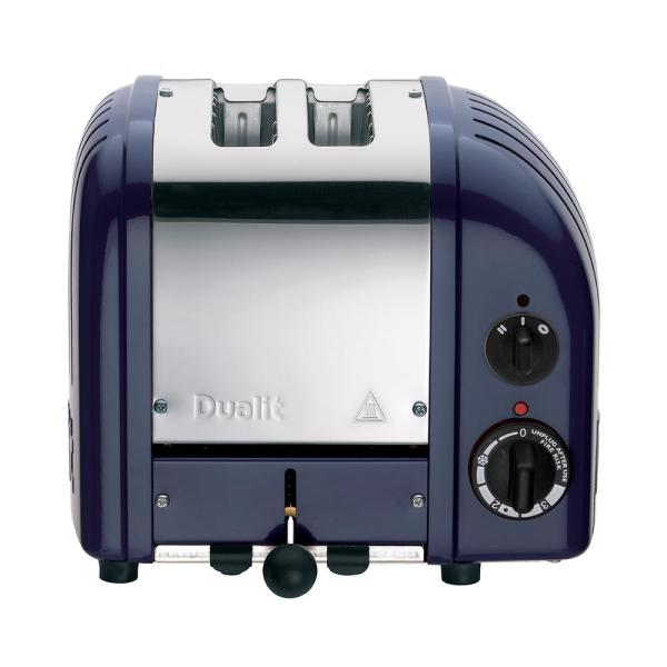 Dualit New Gen 2-Slice Lavender Blue Wide Slot Toaster with Crumb