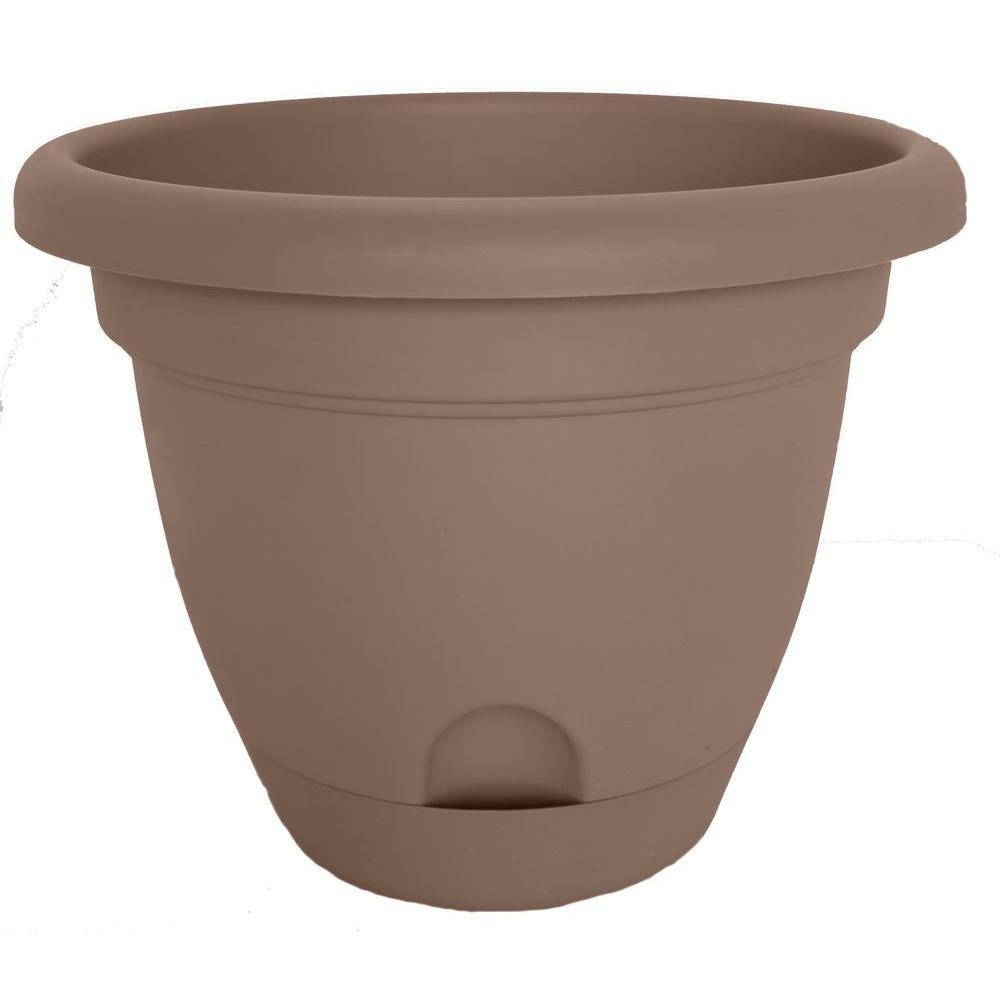 null Lucca 8 in. Round Curated Plastic Planter