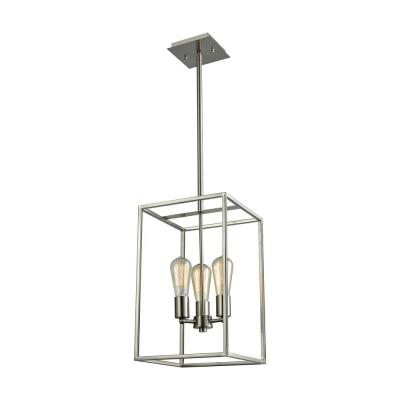Williamsport 3-Light Brushed Nickel Chandelier