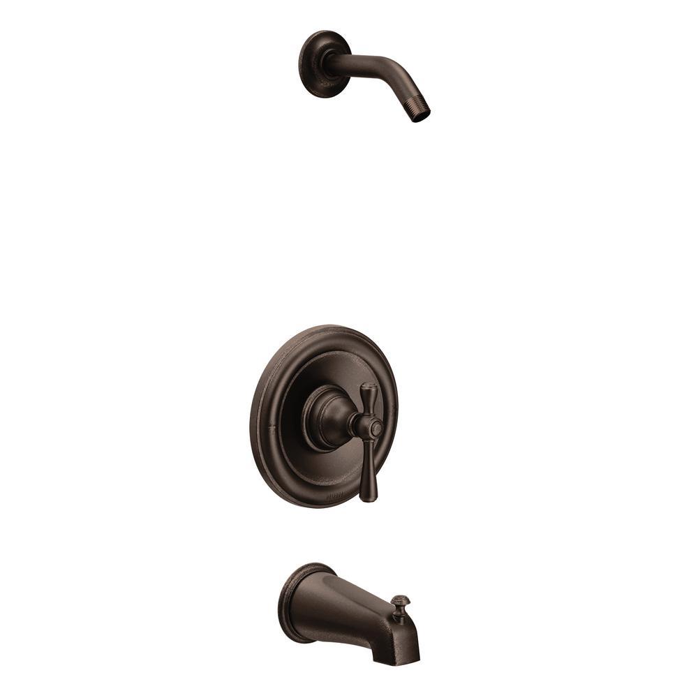 MOEN Kingsley Moentrol 1-Handle Tub and Shower Faucet Trim Kit in ...