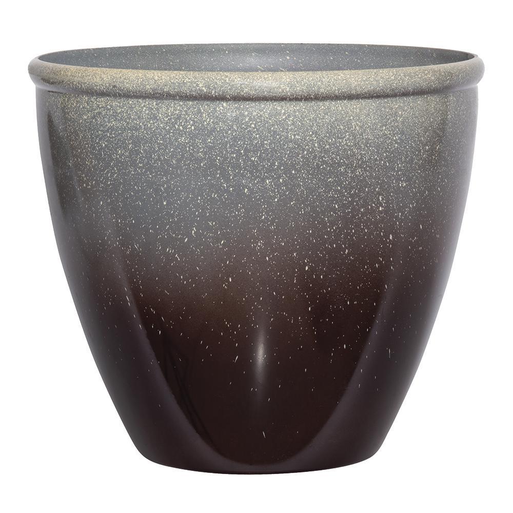 Seneca 16 in. Premium Glaze Resin Planter (Pack of 2)