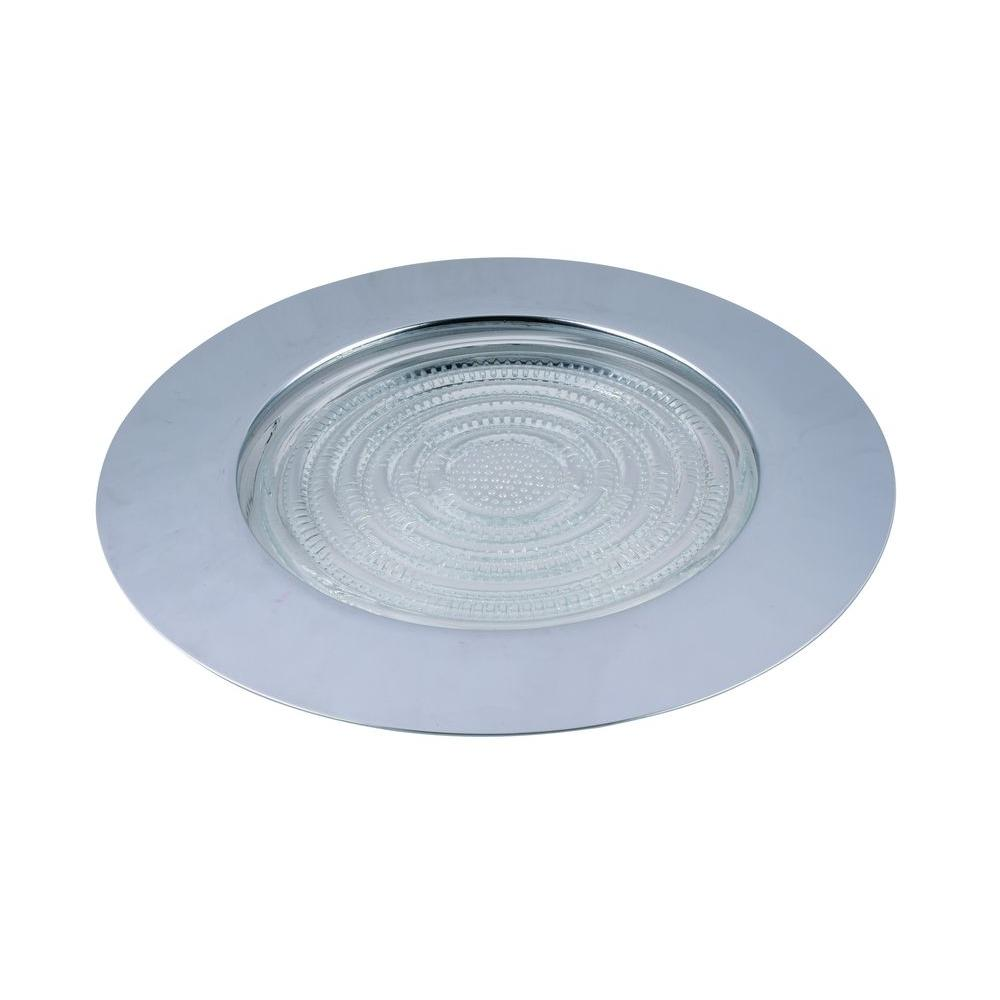 Elegant Lighting 6 In. Chrome Recessed Shower Trim RE13CH   The Home Depot