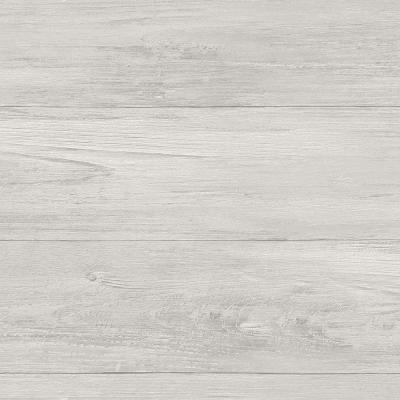 30.75 sq. ft. Grey Wood Plank Peel and Stick Wallpaper