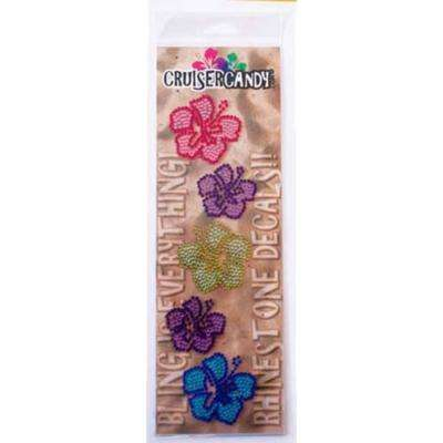 Bling Hibiscus Flower Bicycle Decals