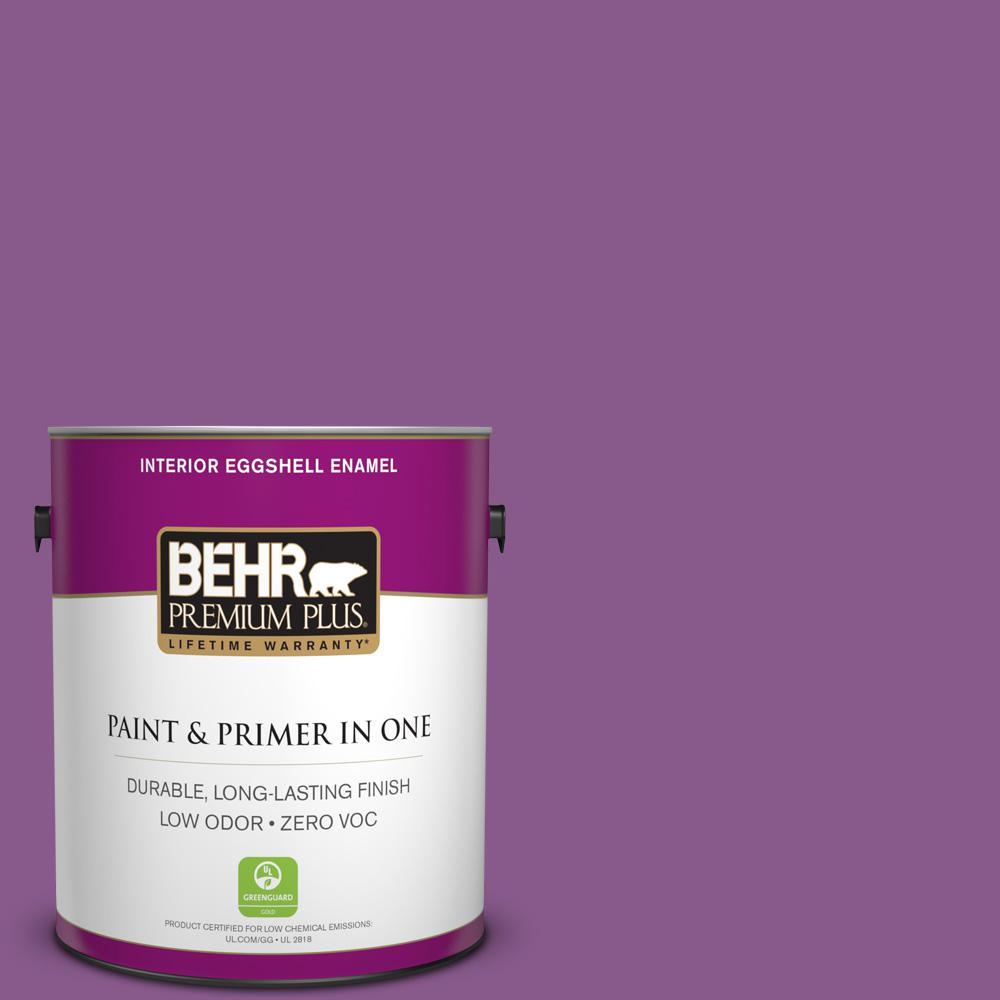 1-gal. #670B-7 Candy Violet Zero VOC Eggshell Enamel Interior Paint