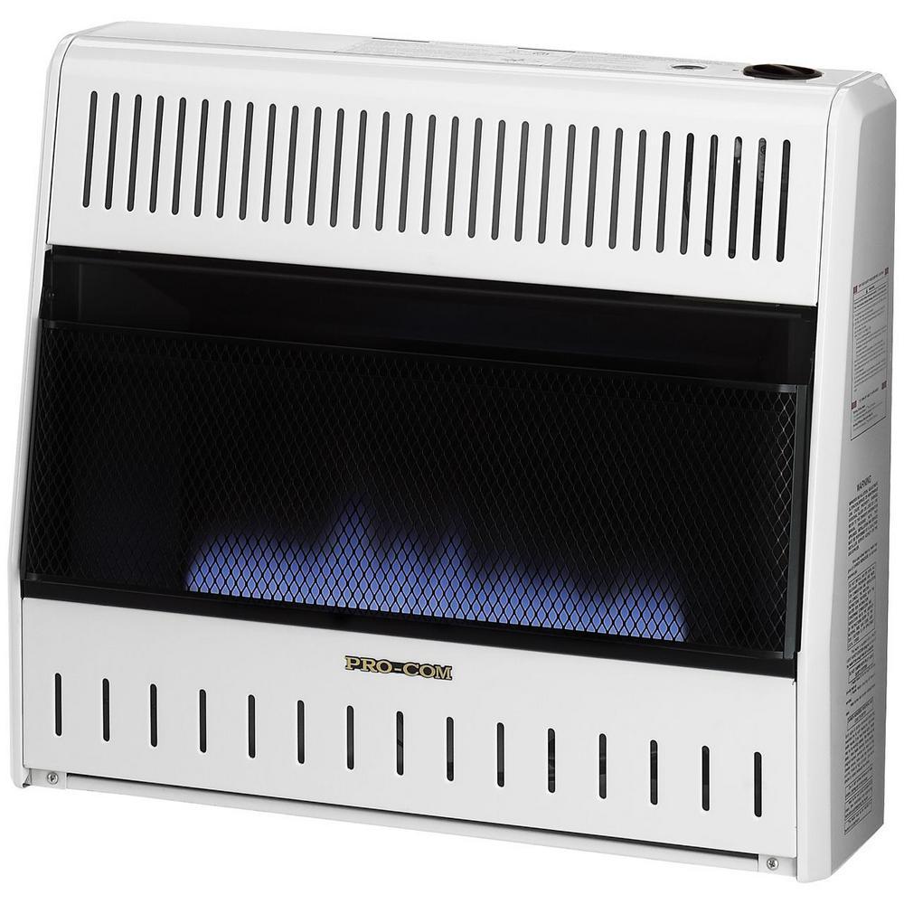 ProCom 30,000 BTU Ventless Dual Fuel Blue Flame Heater