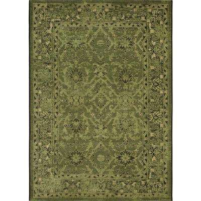 Palazzo Black/Cream 8 ft. x 11 ft. Area Rug