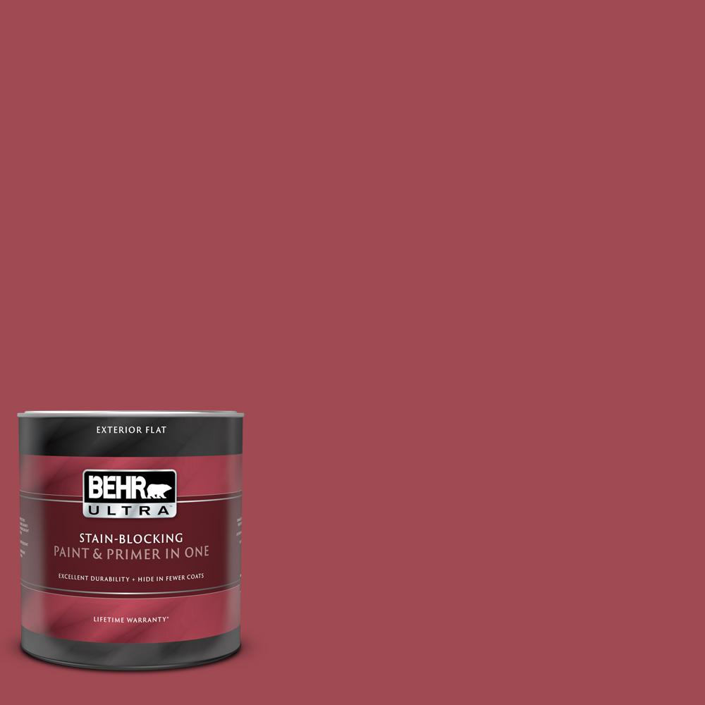 BEHR ULTRA 1 qt. #PPU1-07 Powder Room Flat Exterior Paint and Primer in One