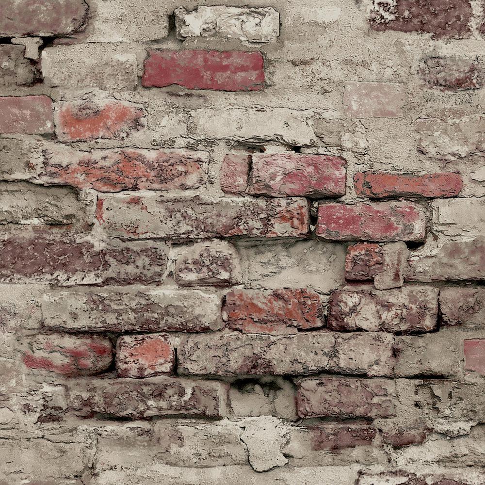 56 sq. ft. Brick Alley Wallpaper