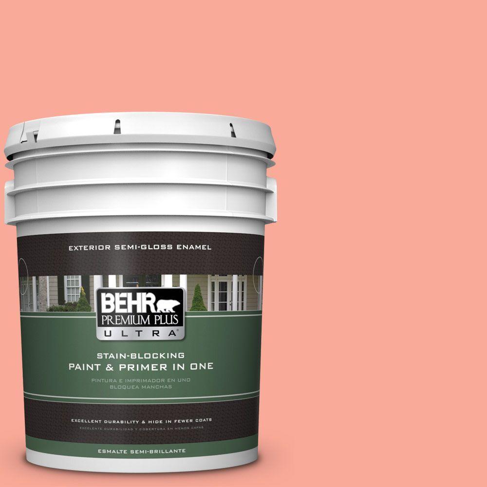 BEHR Premium Plus Ultra 5-gal. #190B-4 Duchess Rose Semi-Gloss Enamel Exterior Paint