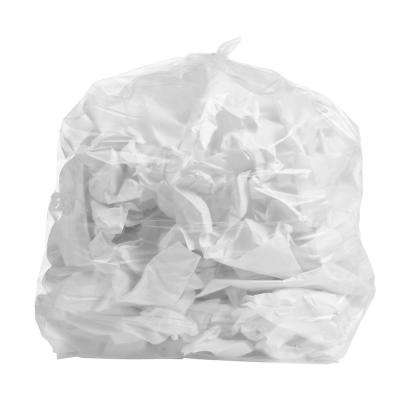 24 in. W x 31 in. H 12 Gal. to 16 Gal. 1 mil Clear Garbage Bags/Trash Can Liners (250 Bags-Case)