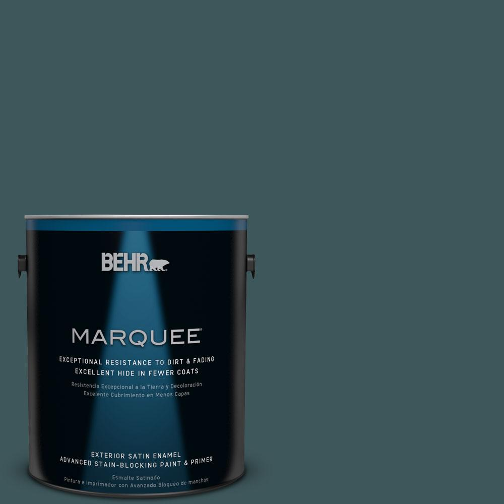 BEHR MARQUEE 1-gal. #PPU12-1 Abysse Satin Enamel Exterior Paint