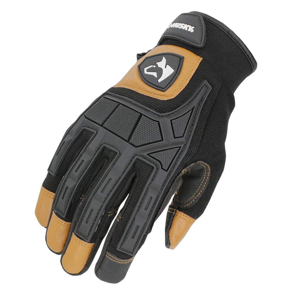 Husky Large Extreme-Duty Leather Glove (2-Pack)