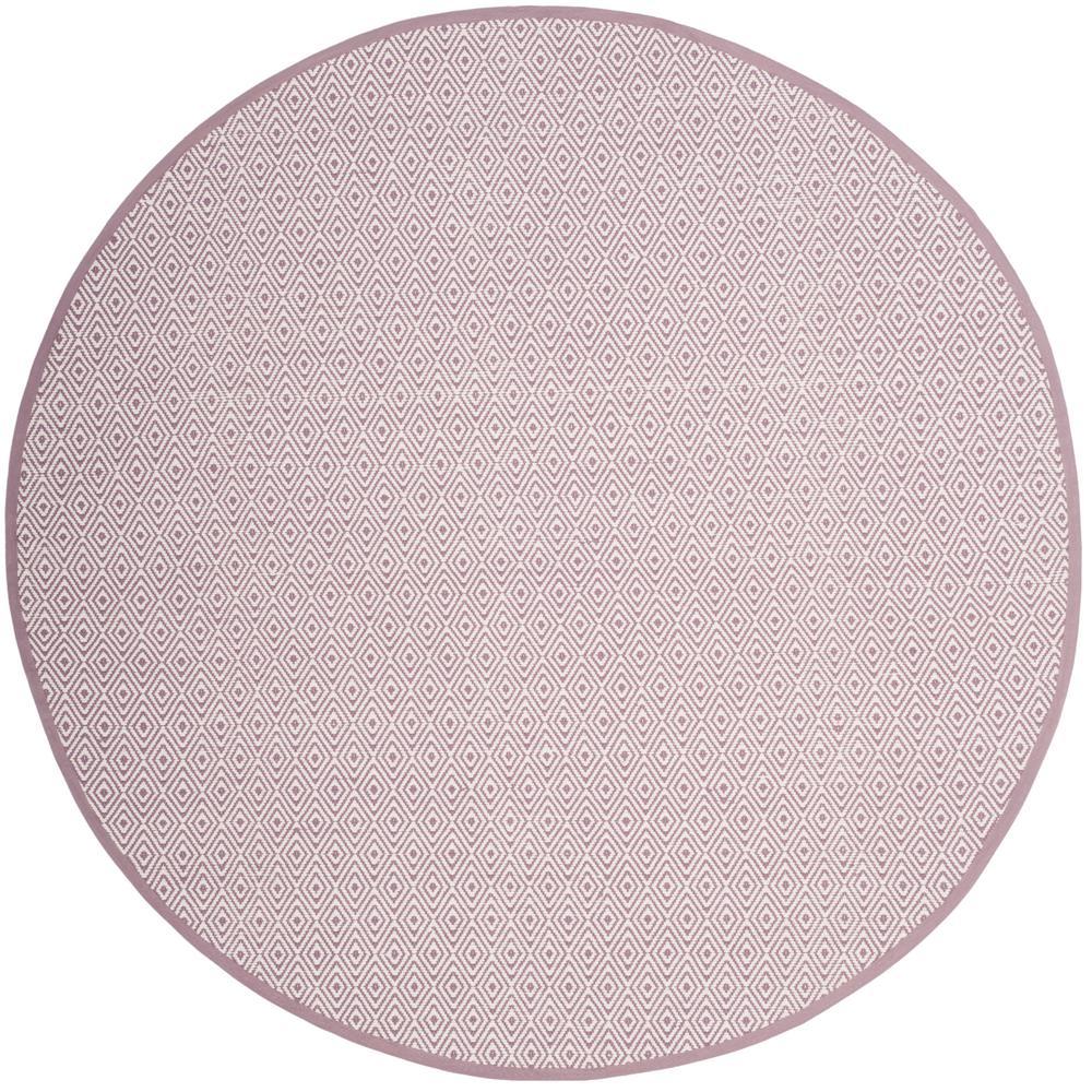 Purple Circle Rugs: Safavieh Montauk Ivory/Purple 6 Ft. X 6 Ft. Round Area Rug