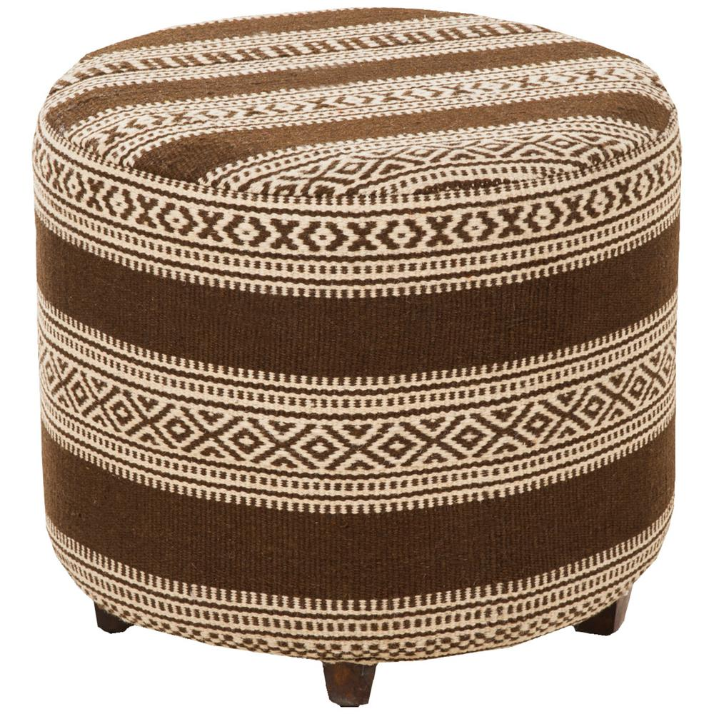 Penrose Chocolate (Brown) Ottoman