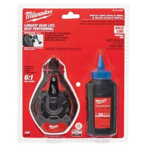 Milwaukee 100 ft. Bold Line Chalk Reel Kit with Blue Chalk by Milwaukee