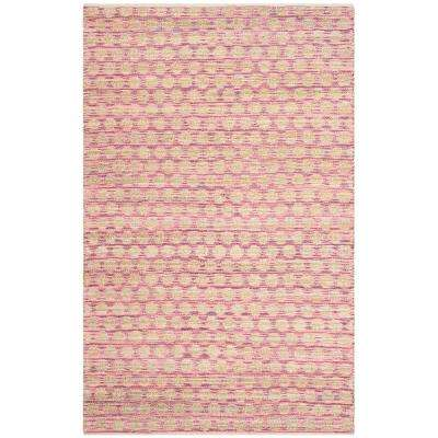 Cape Cod Maroon/Natural 6 ft. x 9 ft. Area Rug