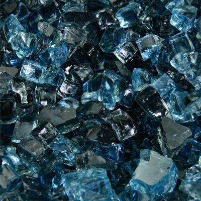 10 lbs. of Kenai Blue 1/4 in. Reflective Blended Fire Glass