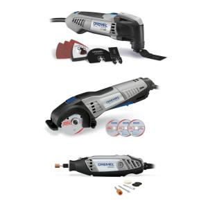 Dremel Ultimate Corded 3-Tool Combo Kit with 15 Accessories and Carrying Bag by Dremel