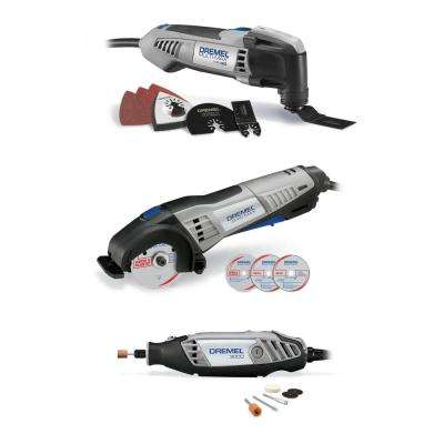 Ultimate Corded 3-Tool Combo Kit with 15 Accessories and Carrying Bag