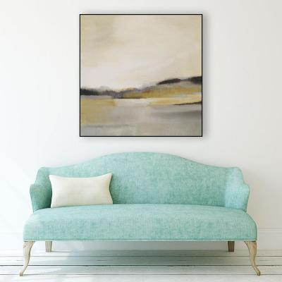 "30 in. x 30 in. ""Morning Beach"" by Alison Jerry Framed Wall Art"