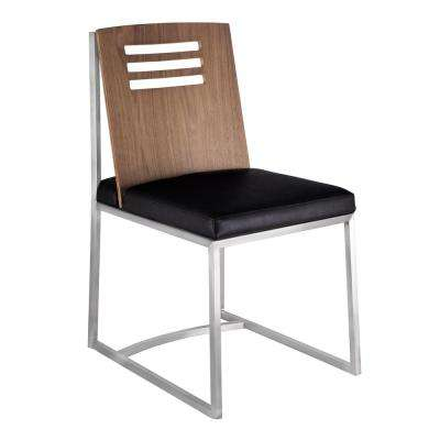 Shirley Black Faux Leather Dining Chair (Set of 2)