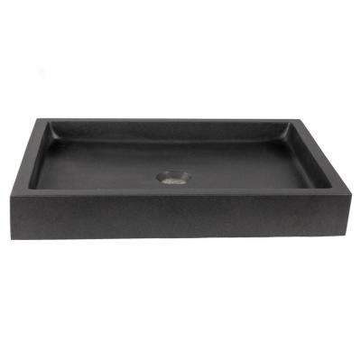 Rectangular Vessel Sink in Lava Stone