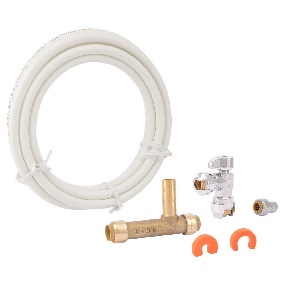 Sharkbite Push To Connect Ice Maker Installation Kit 25024 The Home Depot