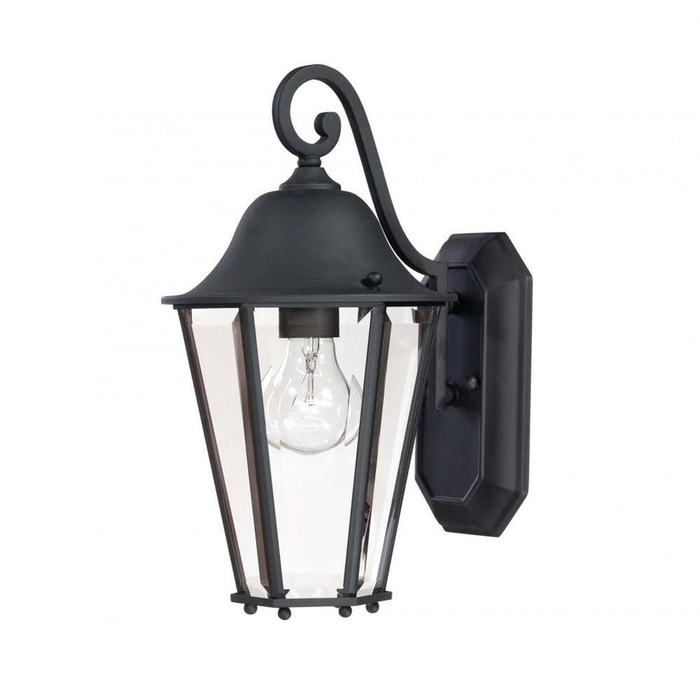 Monti 1-Light Black Outdoor Wall Mount Lantern