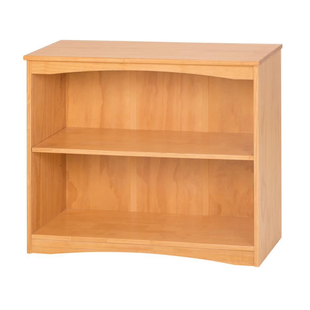 Essentials Natural 36 in. W Wooden Bookcase