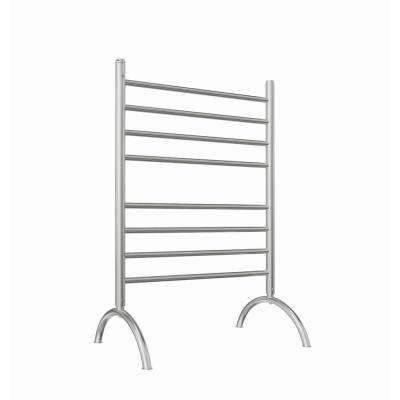 Essentia 8-Bar Freestanding Plug-in Towel Warmer in Brushed Stainless Steel