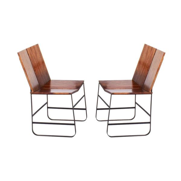 Steve Silver Bowman Brown Side Chair (Set of 2) BM500S