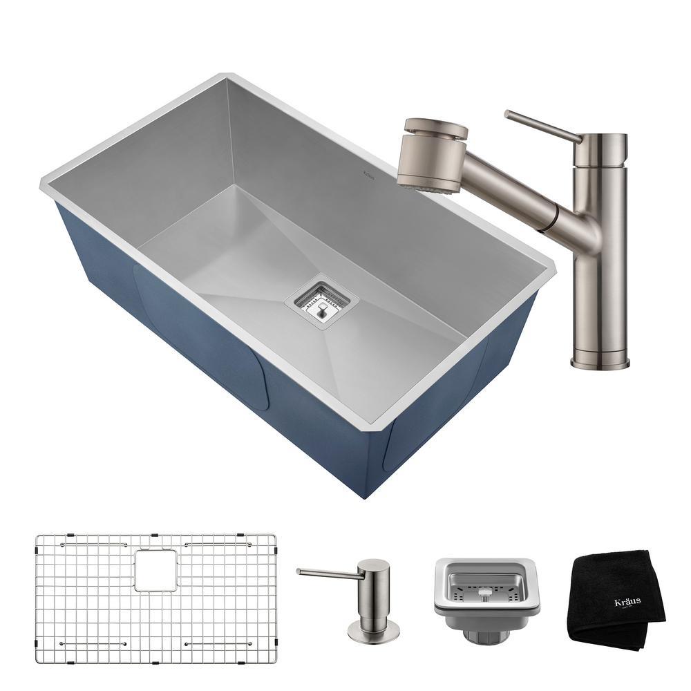 Kraus Kpf Sn Professional Kraus Single Lever Pull Down Kitchen Faucet