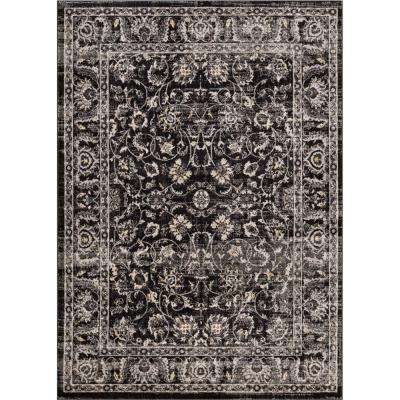 Amba Sonoma Charcoal 8 ft. x 10 ft. Traditional Distressed Area Rug