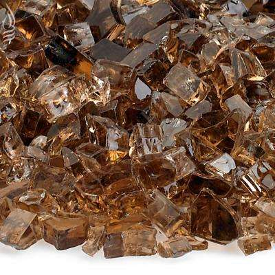 1/4 in. Copper Fire Glass 10 lbs. Bag