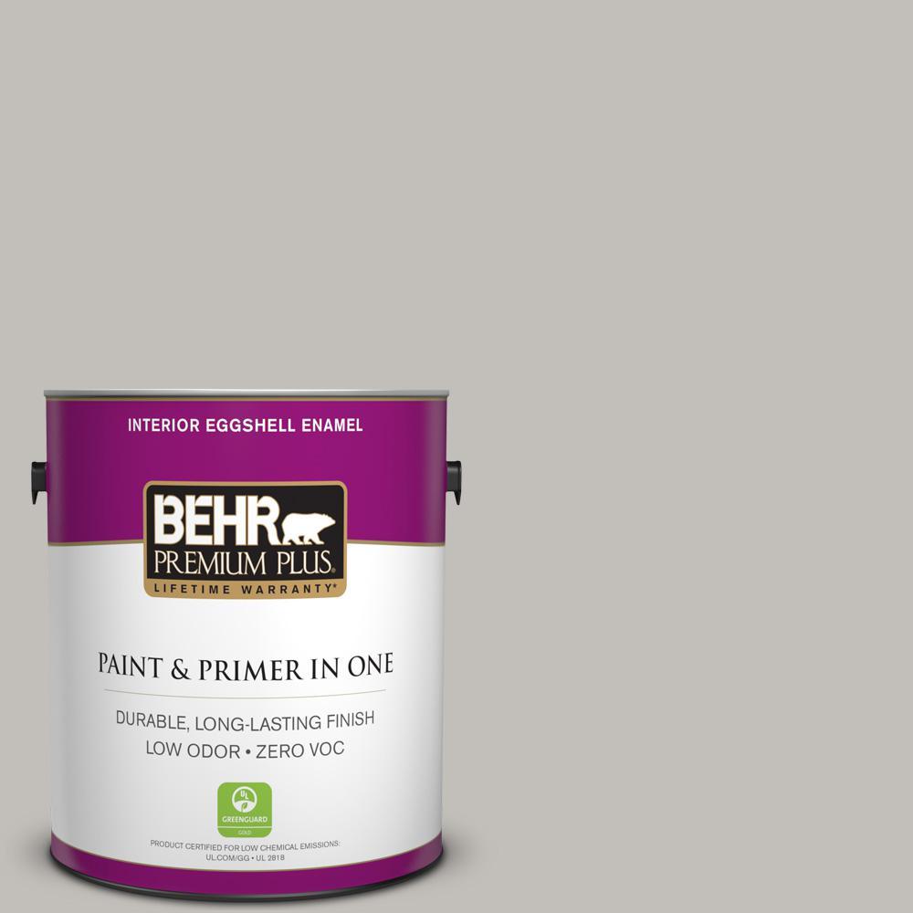 1 gal. #PPU18-10 Natural Gray Zero VOC Eggshell Enamel Interior Paint