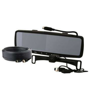 LCD Color Rearview Mirror Monitor, License Plate Camera and Backup Camera Kit