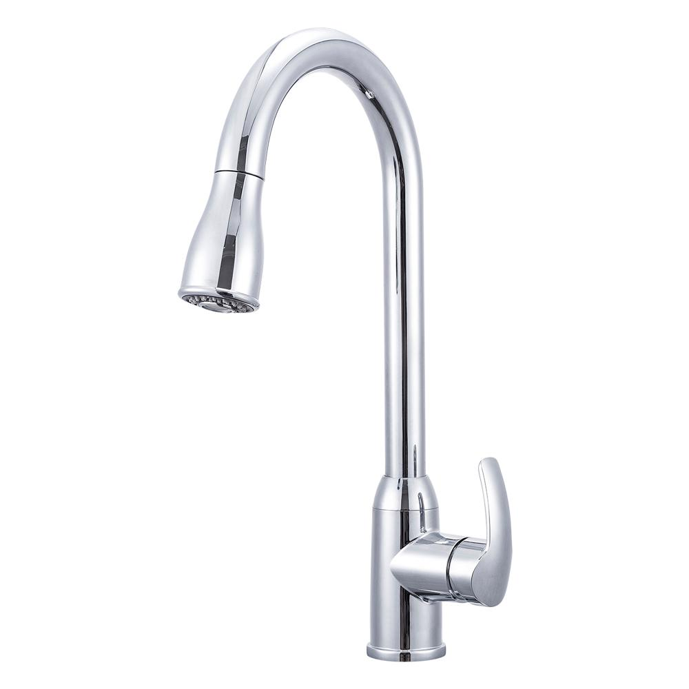 Rv Kitchen Faucet With Pull Down Chrome  Handle