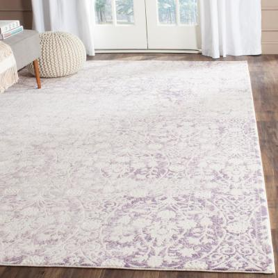 Passion Lavender/Ivory 8 ft. x 11 ft. Area Rug