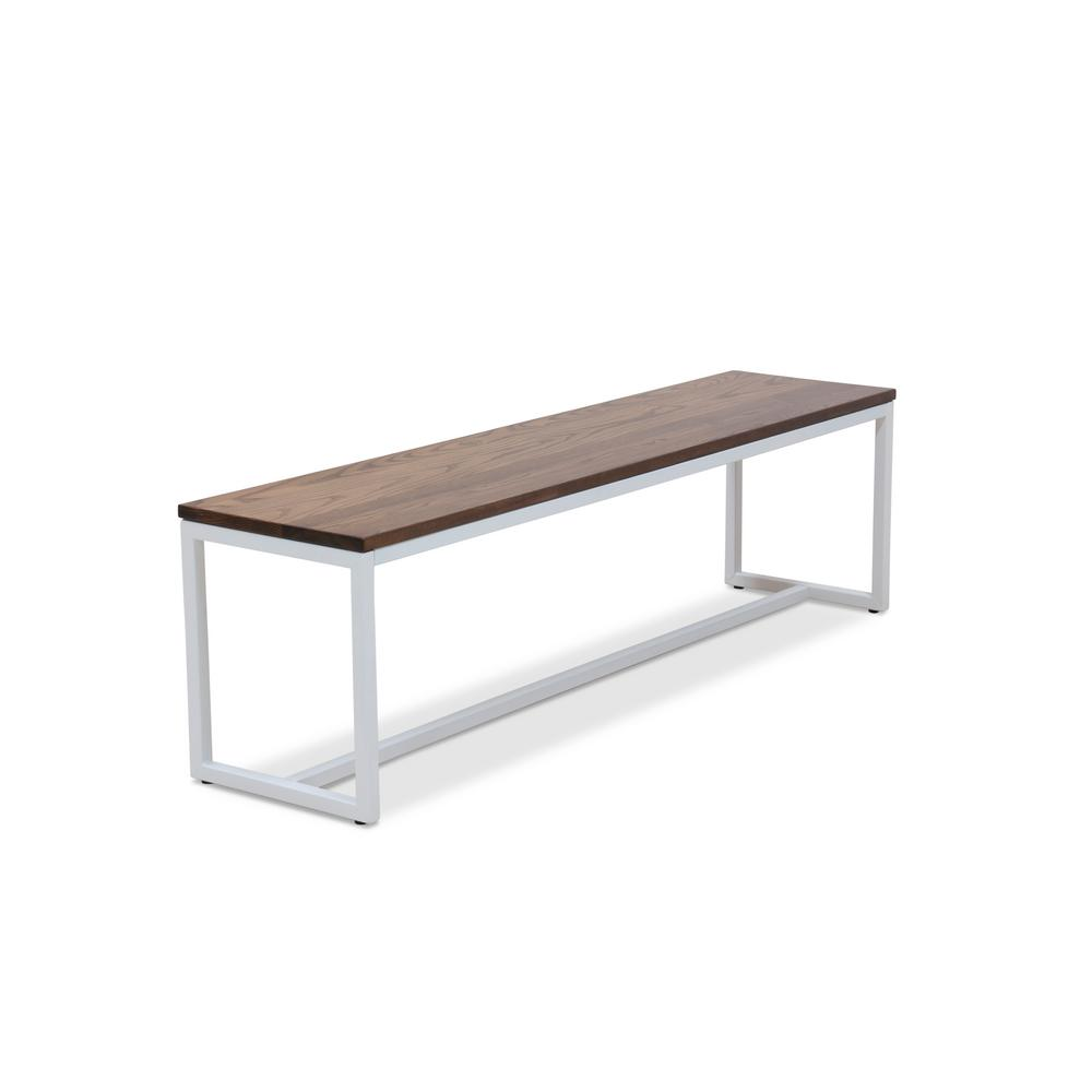 Pleasant Elan Furniture Port White And Chocolate Spice 60 In Bench Alphanode Cool Chair Designs And Ideas Alphanodeonline