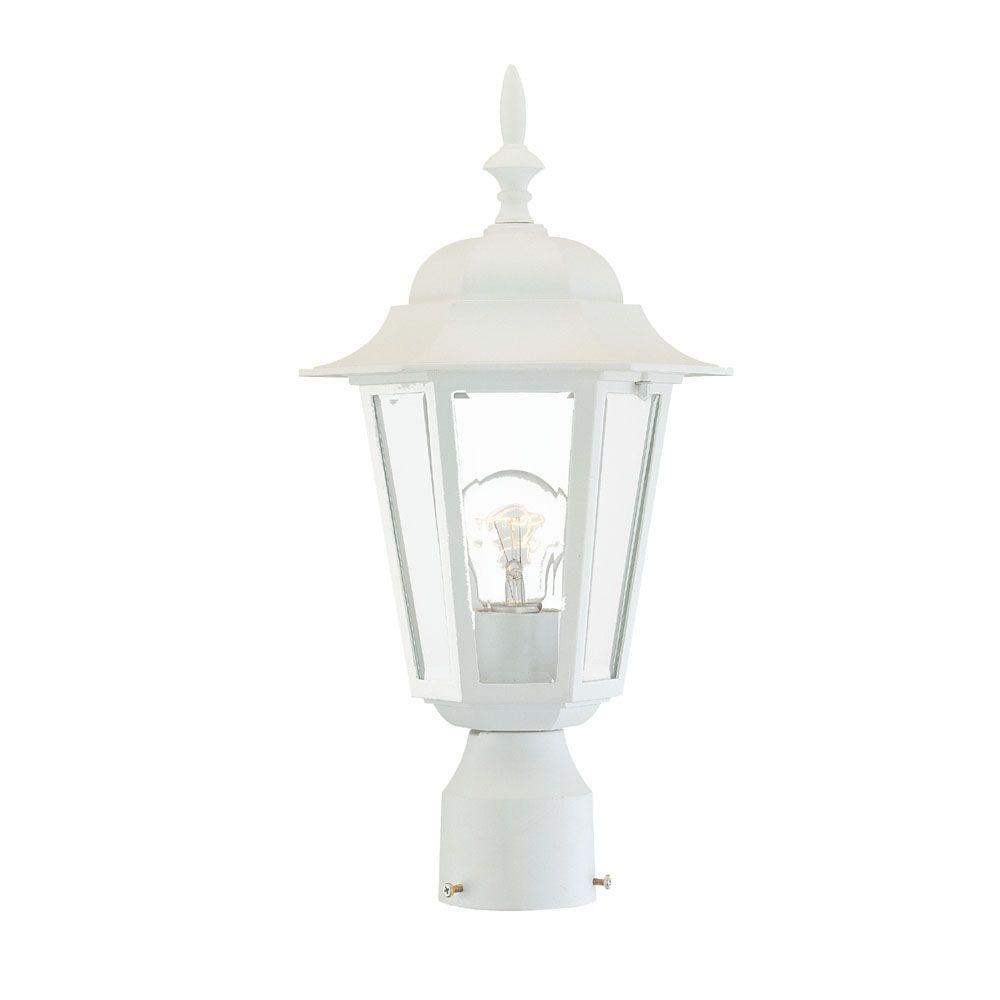 Acclaim Lighting Camelot 1-Light Textured White Outdoor Post-Mount Fixture