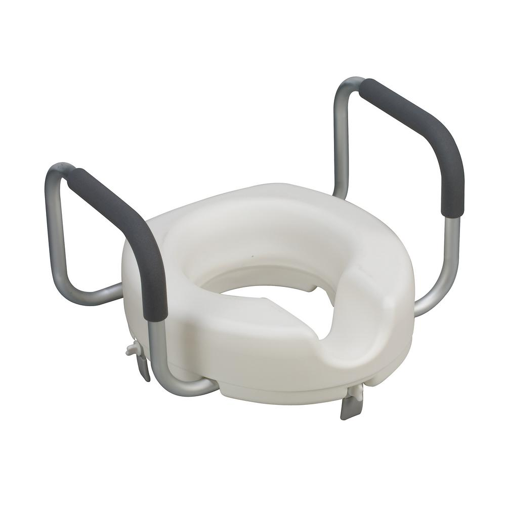 Awesome Dmi Raised Toilet Seat With Arms Alphanode Cool Chair Designs And Ideas Alphanodeonline