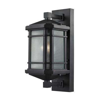 Lowell 1-Light Matte Black Outdoor Sconce