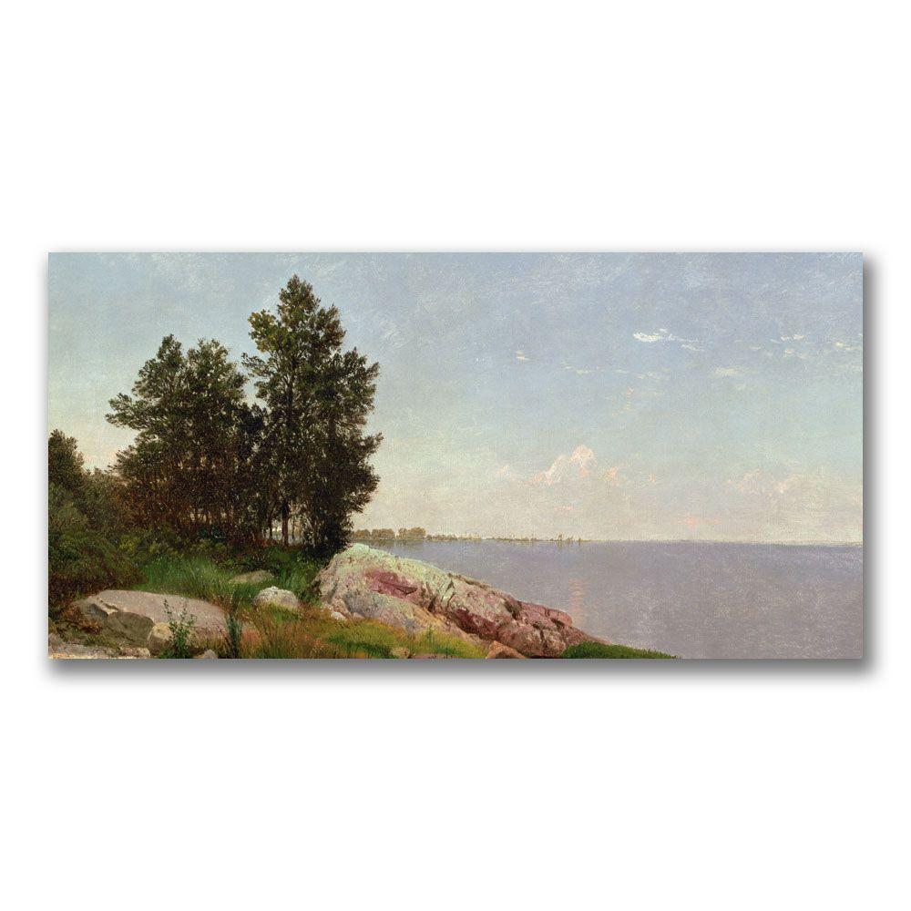 Trademark Fine Art 16 in. x 32 in. Long Island Sound at Darien Canvas Art