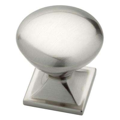 Southampton 1-1/4 in. (32mm) Satin Nickel Square Base Round Cabinet Knob